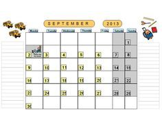 Monthly Calendar Pages for School Year Circle Time Activities, Calendar Pages, Preschool Ideas, Pegasus, Getting Organized, Organization, Technology, Education, Tech