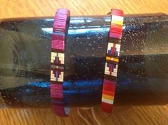 Quilled bracelets, Crystal's Quillwork (Blackfeet) https://www.facebook.com/pages/Crystals-Quillwork/517219695016955