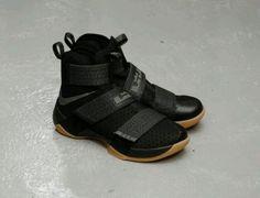 40f096c94be Nike Lebron Soldier 10 Black Gum 844378-009 CAVS FINAL Game 7 Champions Sz  12