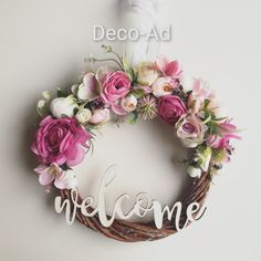 #decoratiuni #aranjament #floriartificiale #homedecoration Floral Wreath, Wreaths, Home Decor, Corona, Decoration Home, Room Decor, Bouquet, Flower Band, Interior Decorating