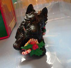 scottie dog ornament vintage by enesco nib - Scottie Dog Christmas Decorations