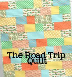 The Road Trip Quilt- courtepointe