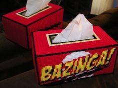 NEW Bazinga  Hand Made Tissue Box Cover Big Bang Theory by Frizman, $39.99