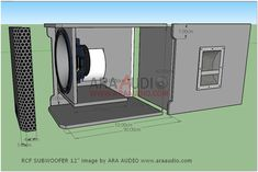 √ Skema Box Subwoofer 12 Model RCF Mantap | ARA AUDIO