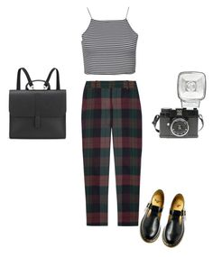 """""""Untitled"""" by samarayared ❤ liked on Polyvore featuring Theory, Boohoo, Dr. Martens, Danielle Foster and Lomography"""
