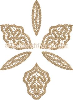 10584 Orchid free standing lace embroidery - A free standing lace machine embroidery design in Battenberg lace technique. Freestanding Lace Embroidery, Romanian Lace, Lace Art, Bobbin Lace Patterns, Point Lace, Lace Jewelry, Needle Lace, Lace Flowers, Beaded Lace