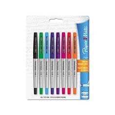 Papermate Flair Porous Point Stick Assorted Color Free-flowing Liquid Pens