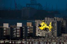 Medical team PH-MAA Rotterdam. Art by digital artist Hans Hunefeld.