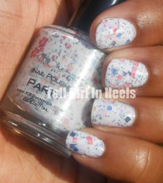 Tall Girl In Heels with Pretty Painted Nails: Party by KB Shimmer