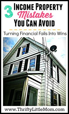3 Income Property Mistakes You Can Avoid. Kalyn took a risk and learned a few things about Income Property mistakes. Check out her post before you invest!