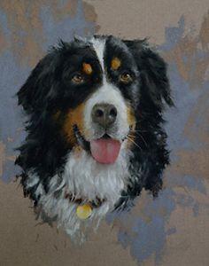 Bentley by Mike Beeman Pastel Dog Pop Art, Dog Art, Dog Paintings, Landscape Paintings, Burmese Mountain Dog Puppy, Pastel Artwork, Dog Illustration, Chalk Pastels, Bernese Mountain