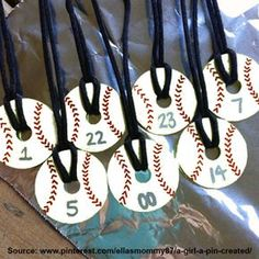 baseball pendent necklace made from fender washers - I REALLY need to do this for our team's moms! Wouldn't this be cute?