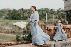Dust blue Filipino traditional wedding in Bataan Modern Filipiniana Gown, Filipiniana Wedding Theme, Wedding Blog, Dream Wedding, Wedding Day, Wedding Stuff, Filipino Wedding, Bridesmaid Dresses, Wedding Dresses