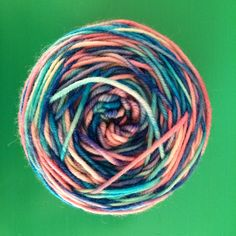 Ombré yarn, hand dyed with Easter egg dye tablets