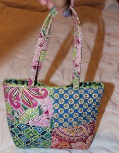 Vera Bradley Multi-Pattern Handbag Daisy, Riviera, Pinwheel, Rasberry…