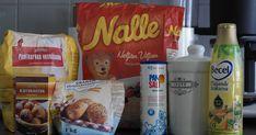 """Kokeilin taannoin Nallen Neljän Viljan hiutalepaketin takaa löytyvää """"Nallen leipäset"""" -ohjetta. Tästä ohjeesta on tullut meidän perheen kes... Sausage, Cereal, Breakfast, Food, Morning Coffee, Sausages, Essen, Meals, Yemek"""