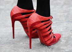 Balenciaga Red heels.