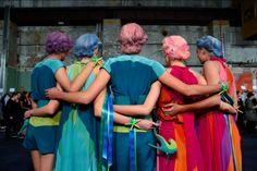 trend talk, pastel hair, mermaid hair, hair inspiration, myer runway