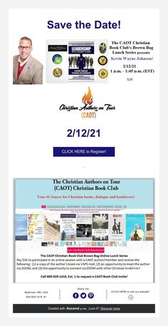 Kevin Johnson, Book Club Books, Save The Date, Authors, Leadership, Dating, Tours, Christian, Quotes