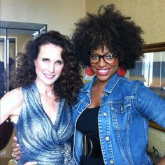 Got to do Andie MacDowell's makeup yesterday. Great Spirit.