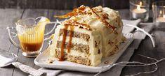 Vanille-Nusskuchen mit Karamellsauce