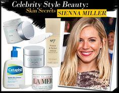 Celebrity Style Beauty: Sienna Miller's Skin Secrets