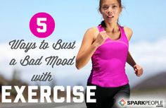 Feeling stressed, down in the dumps or bored? There's a workout for that! Find out which exercises can help you overcome any bad mood so you feel better fast! | via @SparkPeople #fitness #motivation