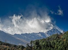 Clouds over Dhaulagiri just behind Annapurna Yoga Retreats