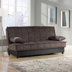 Sauder Bays Convertible Sofa Chocolate Brown