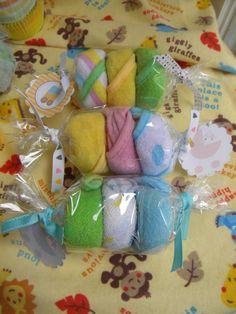 Wash cloth candies Set of 3 by babycakesanddecor on Etsy, $8.00