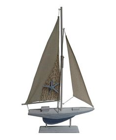 Features Constructed Of 90 Birchwood And 10 Cloth Nautical Accent Wood Sail Boat On Stand With Canvas Sails Product Type Model Car