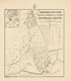 New Lynn Suburban sections in the parishes of Waikomiti and Titirangi (Avondale South) Sourced from LINZ. Nz History, New Windsor, George Martin, Auckland, New Zealand, Maps, Crown, Linz, Corona