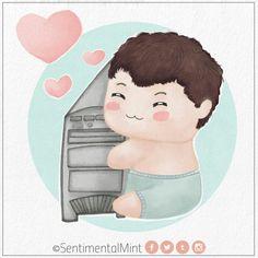 ♥  #TuChicoGamer #Chibi #chico #computadora #cute #dibujo #freak #gamer #kawaii #lol #love #ordenador #pc #SentimentalMint