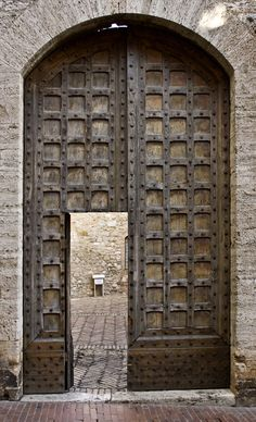 Doors in San Gimignano, Sienna, Italy - photo by Alisa Maximova, via 500px    ...really TALL doors!...