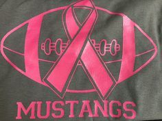 Cancer Pink Out Football Game Adult Shirts by RusticSizzle on Etsy