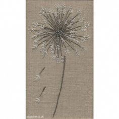 Dandelion Clock, machine and hand embroidery by Jo Butcher