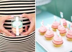 Mint & Strawberry Macaroons for Gender Reveal?
