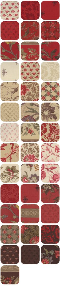 Click to order Reproduction Fabric...Josephine by French General for Moda yardage and precuts... $8.75 yd