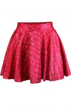 Tie Dye Scale Print High Waist Pleated Mini Skirt