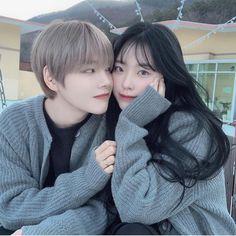 nonam ve ben Cute Relationship Goals, Cute Relationships, Anime Couples, Cute Couples, Couple Ulzzang, Couple Goals Cuddling, Korean Best Friends, Uzzlang Girl, Korean Couple