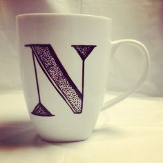 Monogrammed Leopard Mug - Cute, personalized with your name coffee cup that would made a hot Bridesmaid gift!