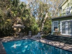 St. Simons Island Cottage Rental: Private Pool. Beautiful Beach Is Just Across The Street.   HomeAway