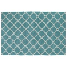 Kaleen Cozy Toes Atlantis Trellis Rug, Turquoise/Blue (Turq/Aqua)
