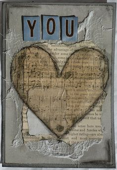 You: mixed media card tutorial at Scrapping Everyday Miracles Mixed Media Cards, Mixed Media Collage, Collage Art, Canvas Collage, Altered Books, Altered Art, Altered Canvas, Mini Album Scrapbook, Tableau Pop Art