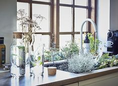Fill carafes with water then add mint leaves or cucumber for a refreshing drink that brings a touch of nature to your table. Get tips from homes around the world at IKEA.com #IKEAIDEAS