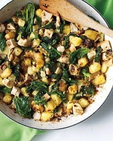 Chicken, Spinach & Potato Hash / Martha Stewart