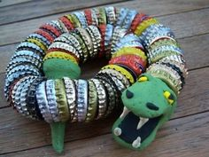 Bottlecap Snake | Community Post: 20 Rad Things You Can Make With Bottle Caps