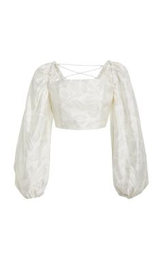 Significant Other Roselle Puffed-Sleeve Brocade Top Fashion Bella, Korean Girl Fashion, Kpop Fashion Outfits, Other Outfits, Outfit Goals, Ootds, Crybaby, Clothes, Model