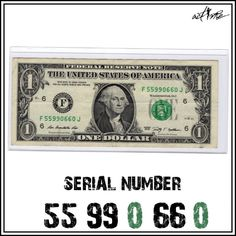 Pairs (Doubles) Fancy Serial Number Note, $1 Dollar Bill Currency Banknote FRN - http://coins.goshoppins.com/us-paper-money/pairs-doubles-fancy-serial-number-note-1-dollar-bill-currency-banknote-frn/