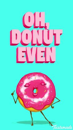 35 Hilarious Donut Quotes In Celebration Of National Donut Day - Donuts Funny Food Puns, Food Jokes, Punny Puns, Cute Puns, Corny Jokes, Food Humor, Funny Cute, Hilarious, Funny Food Quotes